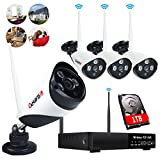 Wireless Security Camera System 4 channe...