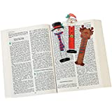 Fun Express 24 Christmas Character Bookmarks/Santa/Snowman/Reindeer/Party Favors/Holiday Stocking Stuffers/2 Dozen/5.25 by OTC