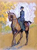 """18.1"""" x 24.1"""" Henri De Toulouse-Lautrec Side-Saddle premium archival print reproduced to meet museum quality standards. Our museum quality archival prints are produced using high-precision print technology for a more accurate reproduction printed on ..."""