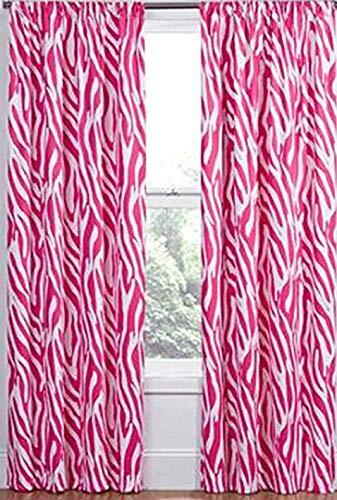 Eclipse Pink White Zebra Blackout Energy Saving Noise Reducing Window Panel 42