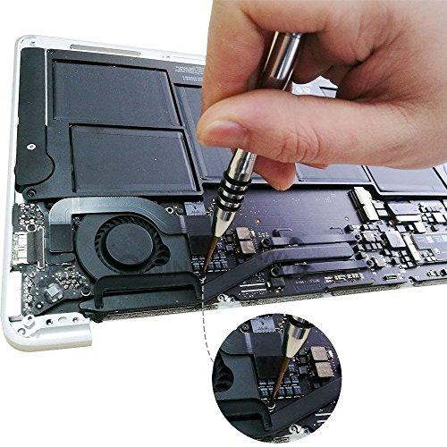 QNINE Screwdrivers Set 6pcs Repair Tool Kit for MacBook Air & Pro, fit All Old or Retina Display Models A1278 A1286 A1297 A1425 A1502 A1398 A1465 A1466 A1369 A1370 A1534 by QNINE (Image #4)