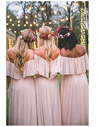 Long Dresses Gown Evening Line Shoulder Prom Chiffon Dress Off Strapless bridal A Bridesmaid Grey olise vXwPzpnqz