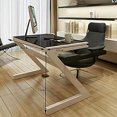 Mesa plegable Mesa de sobremesa de cristal templado Escritorio de ...