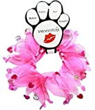 """Valentine's Day Smoocher Hearts Party Collar (Large (16""""-19""""))"""