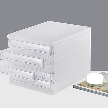 Cassetti Per Scrivania.Wanli666 Cassetti Portaoggetti In Plastica Cassettiera Per