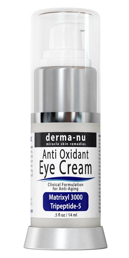 Anti Aging Eye Cream - Best Eye Treatment for Under Eye Wrinkles, Dark Circles, Crows Feet & Puffy Eyes. Effectively Nourishes Skin with Coq10, Matrixyl 3000, Amino Acids, Peptides & Vitamin C - .5oz