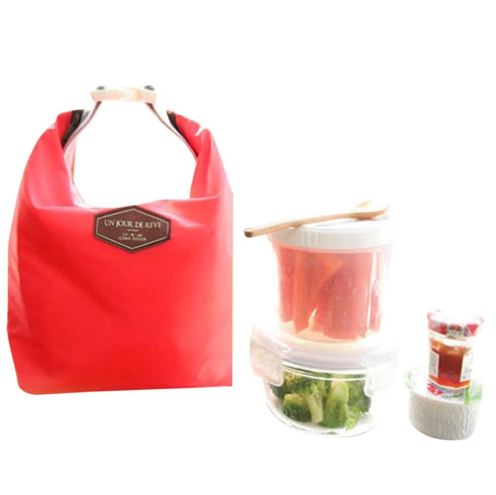 Lunch Bag,Toponly Waterproof Thermal Cooler Insulated Lunch Portable Tote Storage Picnic Bags (Fashion Red)
