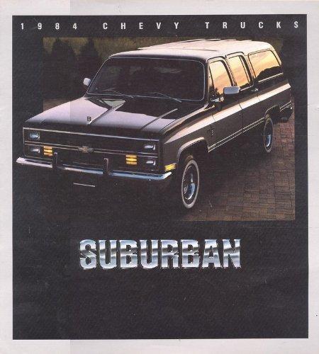 1984 CHEVROLET SUBURBAN PRESTIGE COLOR SALES BROCHURE - August 1983/4352 - USA - EXCELLENT ORIGINAL !!