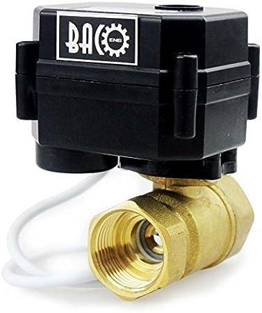 BACOENG DC 12V 3//4 Acier Inoxydable /électrique /électrovanne Normalement ferm/é pour Air Eau Huile
