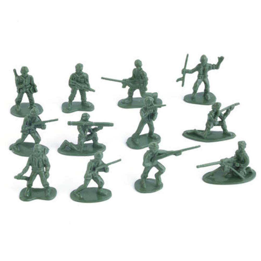 AimeFor 100 stücke Military Kunststoff Spielzeug Soldaten Armee Männer Figuren 12 Posen Geschenk