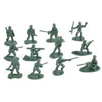 Alivier 100pcs Soldados de Juguete de plástico Militar Figuras de Hombres del ejército 12 Plantea Regalo