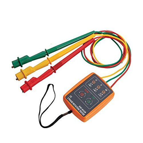 SM852B 3 Phase Rotation Tester Indicator Detector Meter with LED + Buzzer - 7