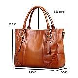 Kattee Vintage Genuine Soft Leather Shoulder Handbag Sorrel f65fe4be491f1