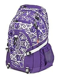 High Sierra 53646-4981 Loop Backpack, Shibori/Deep Purple/White, International Carry-On
