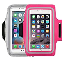 Water Resistant Sports running Armband,2Pack CaseHQ sporty sweat proof Arm Bag armband case with Key Holder for iPhone 7 7plus 6 Plus 6S Plus,Samsung Galaxy S6/S5, Note 4 Bundle with Screen Protector