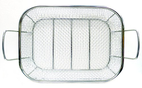 Mr. BBQ Stainless Steel Mesh Roasting Pan with Built in Stainless Steel Handles – Perfect for Cooking Vegetables, Stir Fry, Seafood and More – Great for Tailgating and Camping