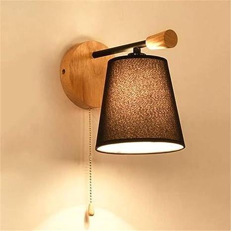 Lampada Da Parete A Luce Diretta Creativa Singola In Legno A Testa