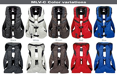 Hit-Air MLV-C Light Weight Equestrian Airbag Vest (XL-3XL, Black) ()