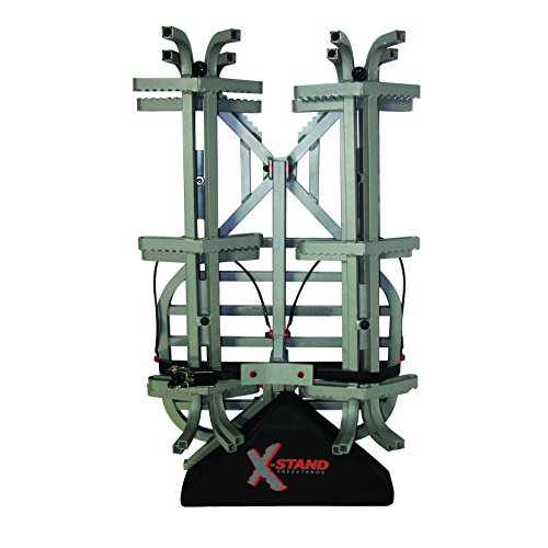 X-Stand Back Country Combo Tree Stand and Climbing Sticks, Grey