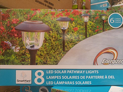 SmartYard LED Solar Pathway Lights, 8-pack Powered By Energizer by SmartYard