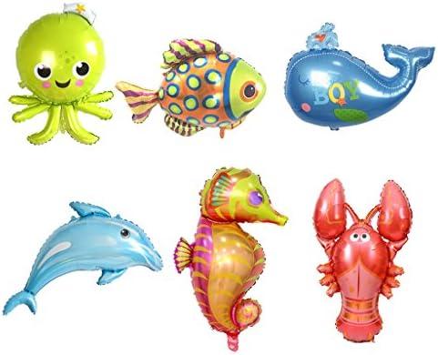 amleso バルーン 風船 海 動物 アルミホイル 誕生日 結婚式 パーティー用 部屋飾り 装飾 キッズ おもちゃ プレゼント