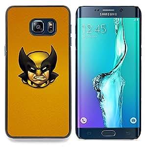 Wolv Vintage X Superhero Caja protectora de pl??stico duro Dise?¡Àado King Case For Samsung Galaxy S6 Edge Plus