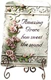 Roman 65463 High Amazing Grace Plaque Statue with Verse Amazing Grace How Sweet The Sound, 10-Inch