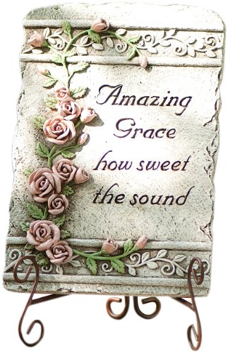 Roman 65463 High Amazing Grace Plaque Statue with Verse Amazing Grace How Sweet The Sound, 10-Inch Review