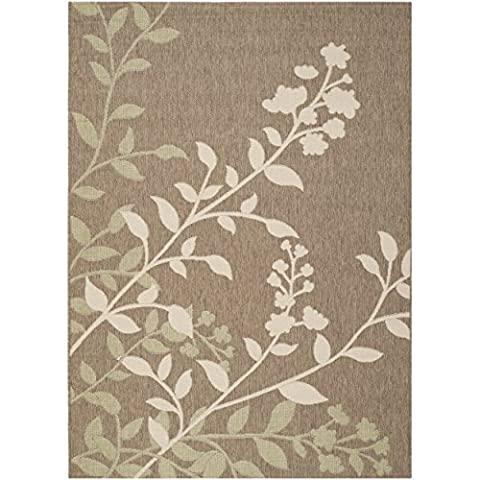 Safavieh Courtyard Collection CY7019-242 Brown and Beige Indoor/ Outdoor Area Rug (5'3