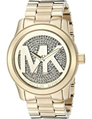Michael Kors Womens Runway Gold-Tone Watch MK5706