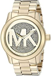 Michael Kors Women's Runway Gold-Tone Stainless Steel Watch MK5706