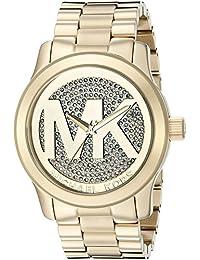 Michael Kors Runway MK5706 Women's Wrist Watches, Gold Dial