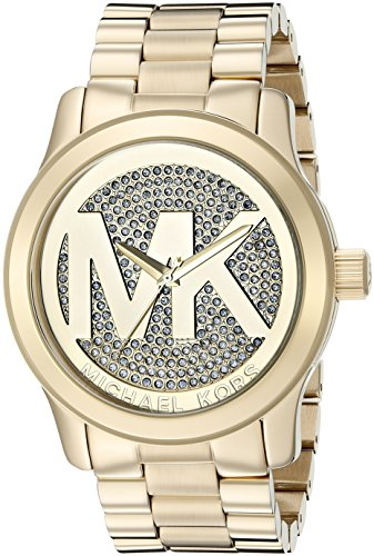 Michael Kors Women's Runway Gold-Tone Watch MK5706 (Oversized Runway Watch)