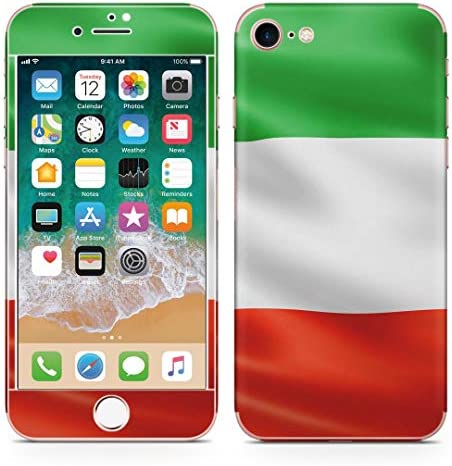 igsticker iPhone SE 2020 iPhone8 iPhone7 専用 スキンシール 全面スキンシール フル 背面 側面 正面 液晶 ステッカー 保護シール 001189 ユニーク その他 イタリア 国旗