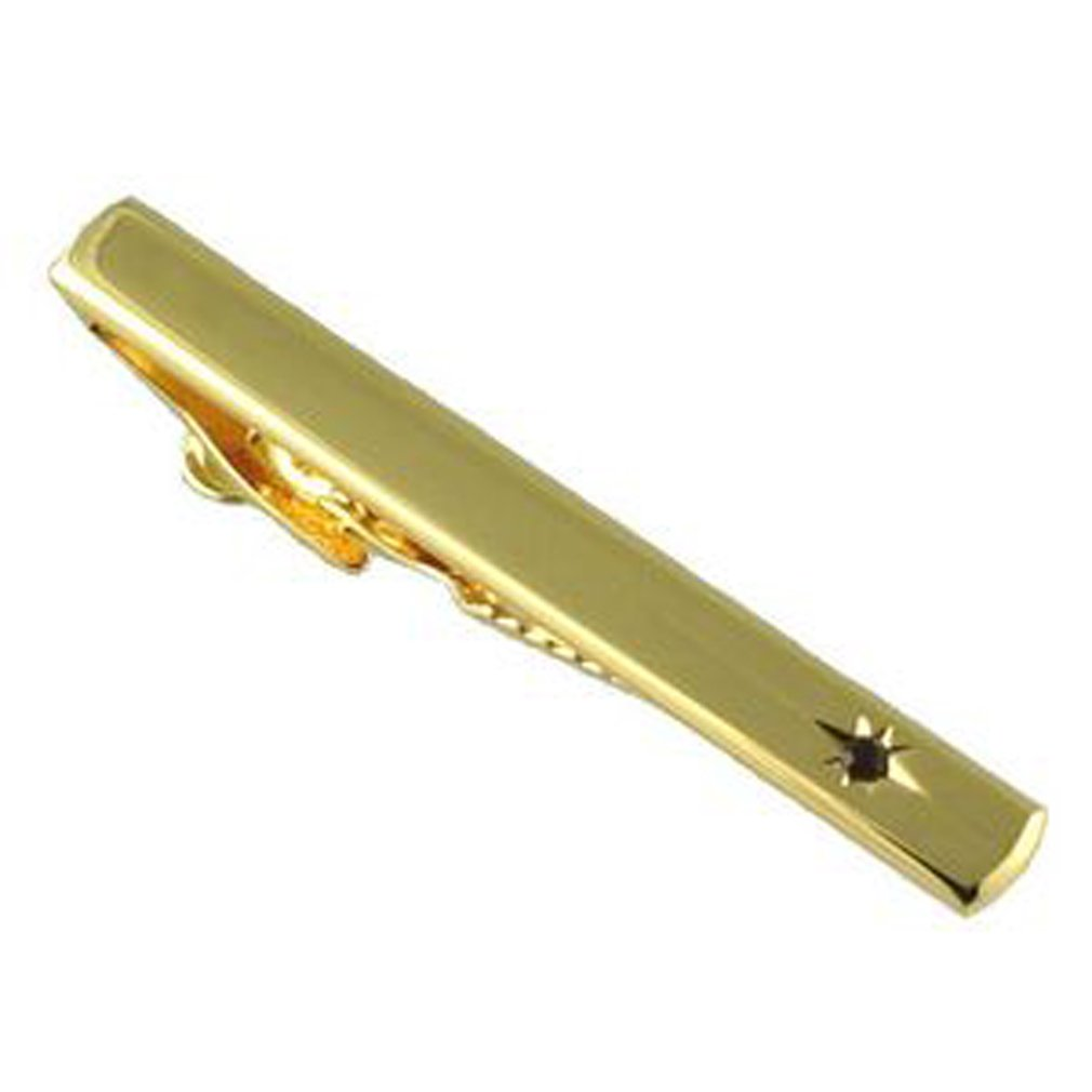 Ruby Crystal Tie Bar Gold-tone Optional Engraved Personalised Box