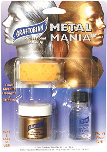 [Graftobian Metal Mania Makeup Kit Gold 1 oz./26 g] (Gold Body Paint Costume)