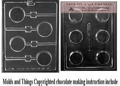 Plain Cookie (Oreo) Lollipop Chocolate Mold,Plain Cookie chocolate candy mold With Candy Making Instruction