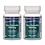 Saw Palmetto Tablets 1000mg | Premium Standardised Extract | Bundle Deal 120+120 Tablets (240 in Total) | Manufactured in The UK