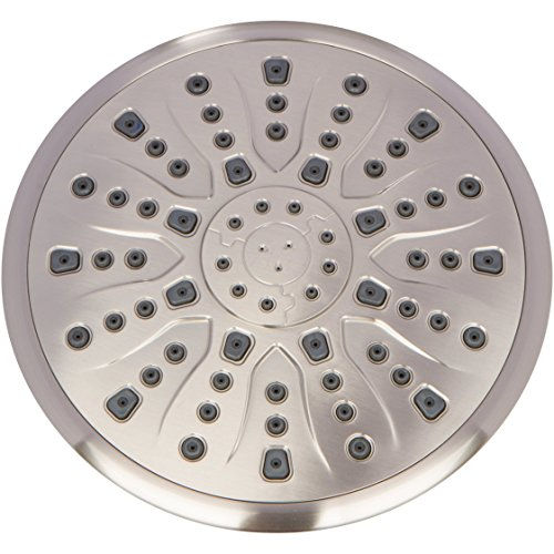 Rain Shower Head Brushed Nickel - 9 Inch Large Overhead Rainfall Showerhead With High Flow Big Waterfall & Luxury Rainshower Heads - Brushed Nickel