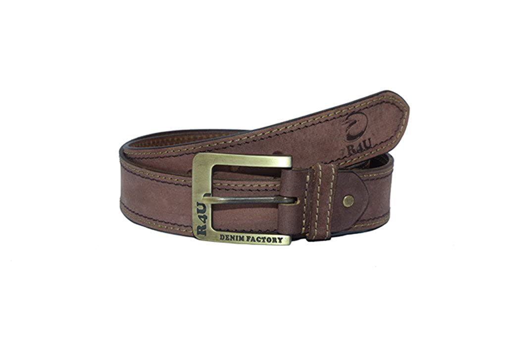 R4U Denim Factory Mens Genuine Leather Belt