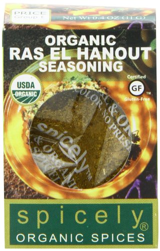 Spicely 100% Organic and Certified Gluten Free, Ras El Hanout Seasoning