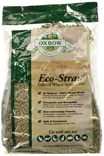 Rabbit Litter (OXBOW PET PRODUCTS 744845104027 Ecostraw Bedding for Pets, 8-Pound)
