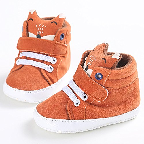 Iuhan Baby Girl Boys Fox High Help Shoes Sneaker Anti-slip Soft Sole Toddler (Age:6~12 Month) by Iuhan  (Image #1)