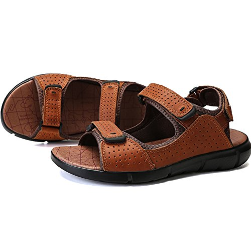 Brown antiscivolo estivi Sandali Size regolabili 3 spiaggia 1 EU Black da Light 43 Color Uq6WOgSf6