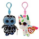 TY Beanie Boos - SPRING 2018 Releases SET of 2 (Yago & Harmonie) (Plastic Key Clip) (funchop with purchase)