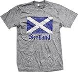 Flag of Scotland, Scottish Flag, Saltire Men's T-shirt, NOFO Clothing Co. L LtGray
