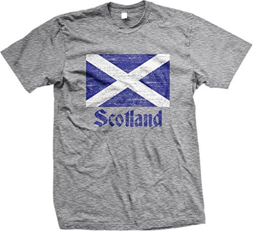 Flag Of Scotland  Scottish Flag  Saltire Mens T Shirt  Nofo Clothing Co  L Ltgray
