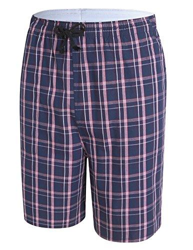 PAUL JONES Men's Lightweight Lounge Shorts Sleepwear Beach Shorts for Summer - Drawstring Lightweight Shorts