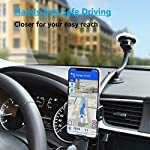 APPS2Car Phone Holder for Car Windscreen Flexible Long Arm 13″ Goose-neck Mobile Phone Holder Compatible with 4-7″ Phone Suction Base Dashboard Phone Holder for Van/Truck
