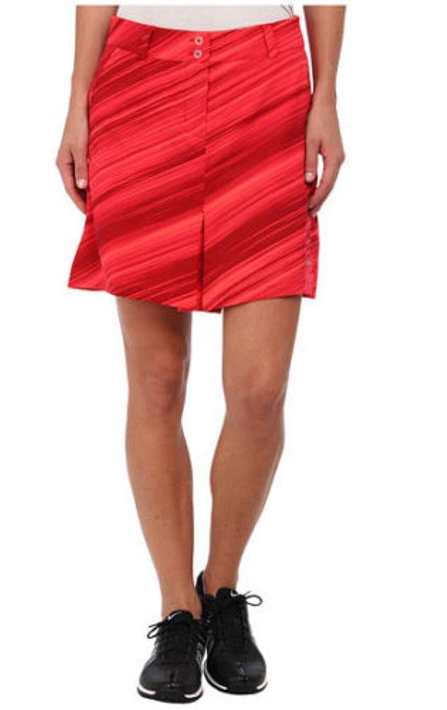 Nike Womens Speed Stripe Skort Action Red/Metallic Silver 16 x One Size